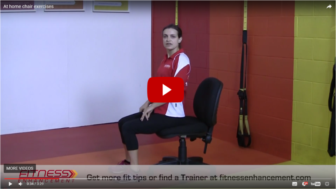 seated exercise video screen shot