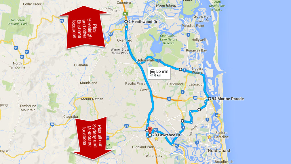 Gold Coast Boot Camp map Fitness Enhancement Personal Training