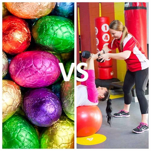 easter exercise vs chocolate