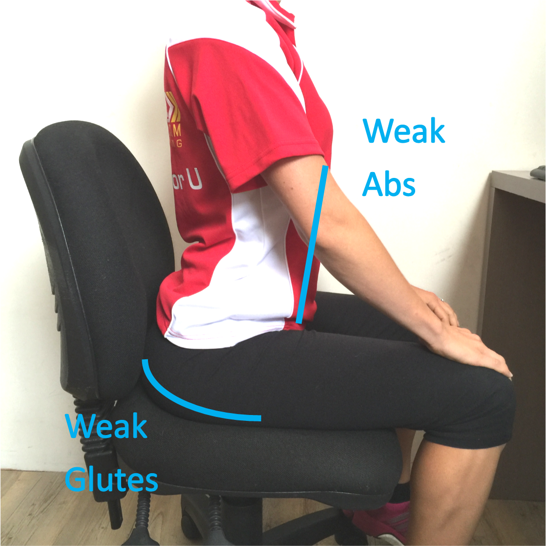 weak muscles sitting