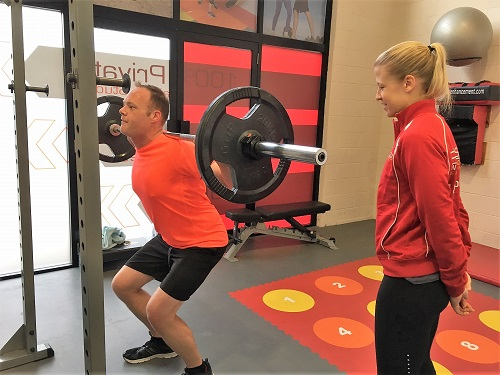 Luke client squats